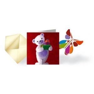 """Pack 10 Cartes """"ourson"""" & Papillon Volant"""