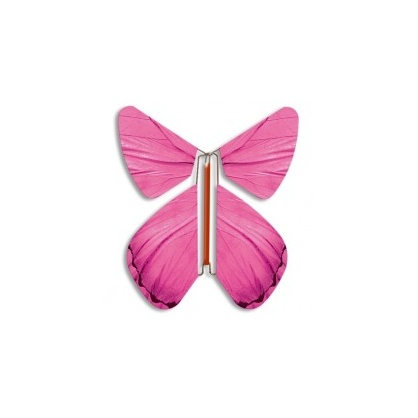 Papillon volant Printemps rose