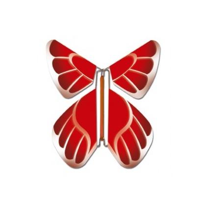 Papillon volant rouge
