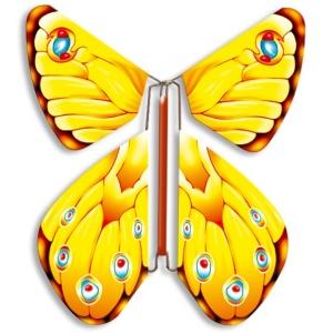 Papillon volant rose vif