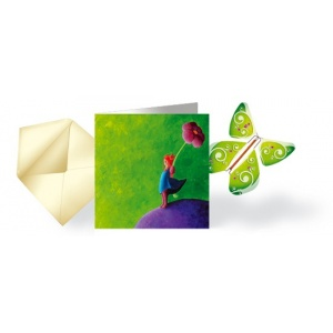Card stars & flying Butterfly