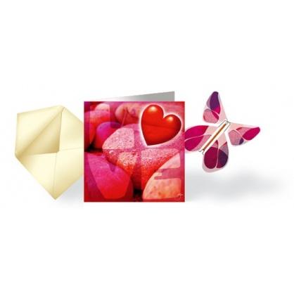 LIQUIDATION Carte Love & Papillon