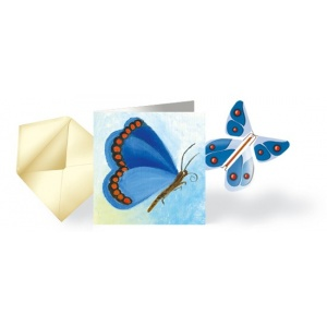 Card & flying Butterfly