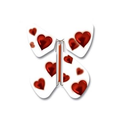 Papillon volant Amour Blanc