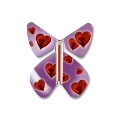 Papillon volant Amour Pourpre