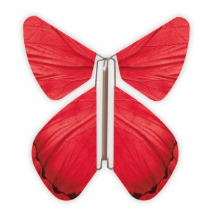 Papillon volant Printemps Rouge
