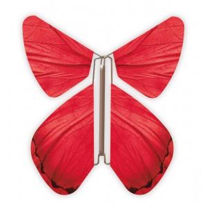 Papillon volant Printemps Rouge