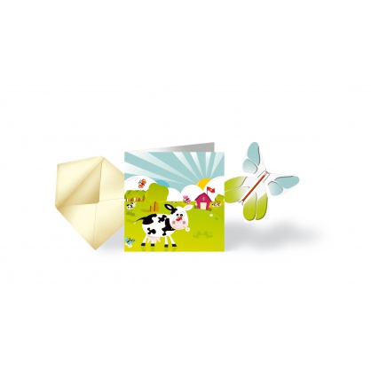 Carte & Papillon volant VACHETTE SUISSE