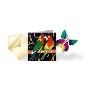 Carte Les Inséparables & Papillon volant