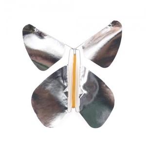 Pack 5 Papillons Metal Argent