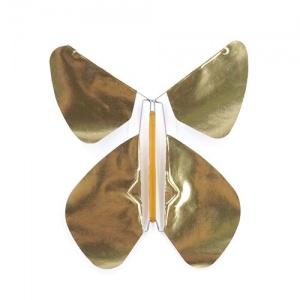 Pack 5 Schmetterlinge  Gold Metall