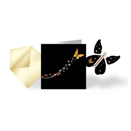 Pack 5 Cartes Fêtes & Papillon Volant