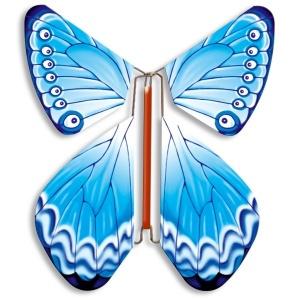 Papillon volant bleu