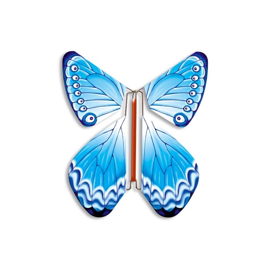 Летающая бабочка в открытке