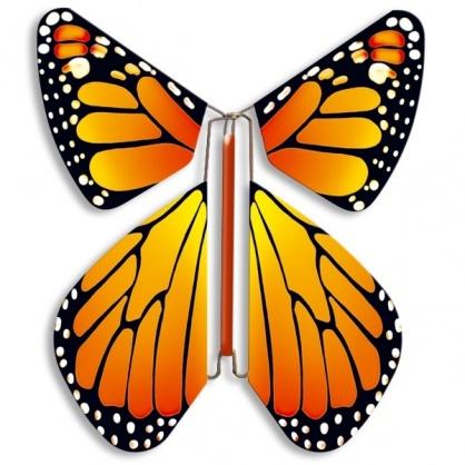 Papillon volant orange