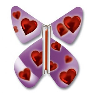 Pack 10 Papillons volant Amour pourpre