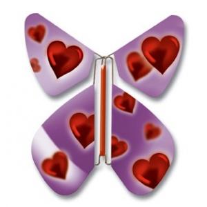 Pack 10 Schmetterlinge Purpul Liebe
