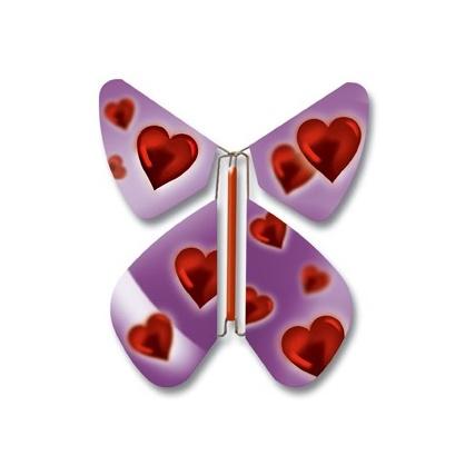PROMOTION 10 Papillons coeur