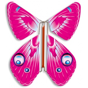 Pack 10 Papillons volants rose vif