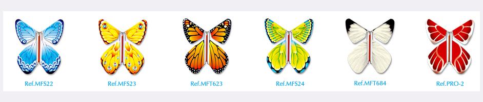 6 papillons magiques standard