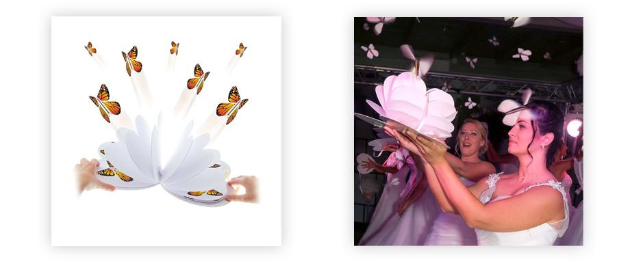 Le Coeur Magique, une envolée féérique de papillons pour votre sortie de mariage
