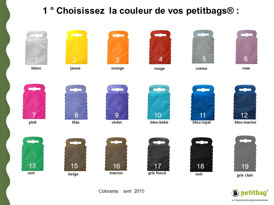 Choose the color of your petitbag